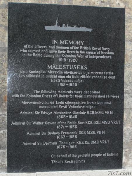 Tallinn Royal Navy memorial