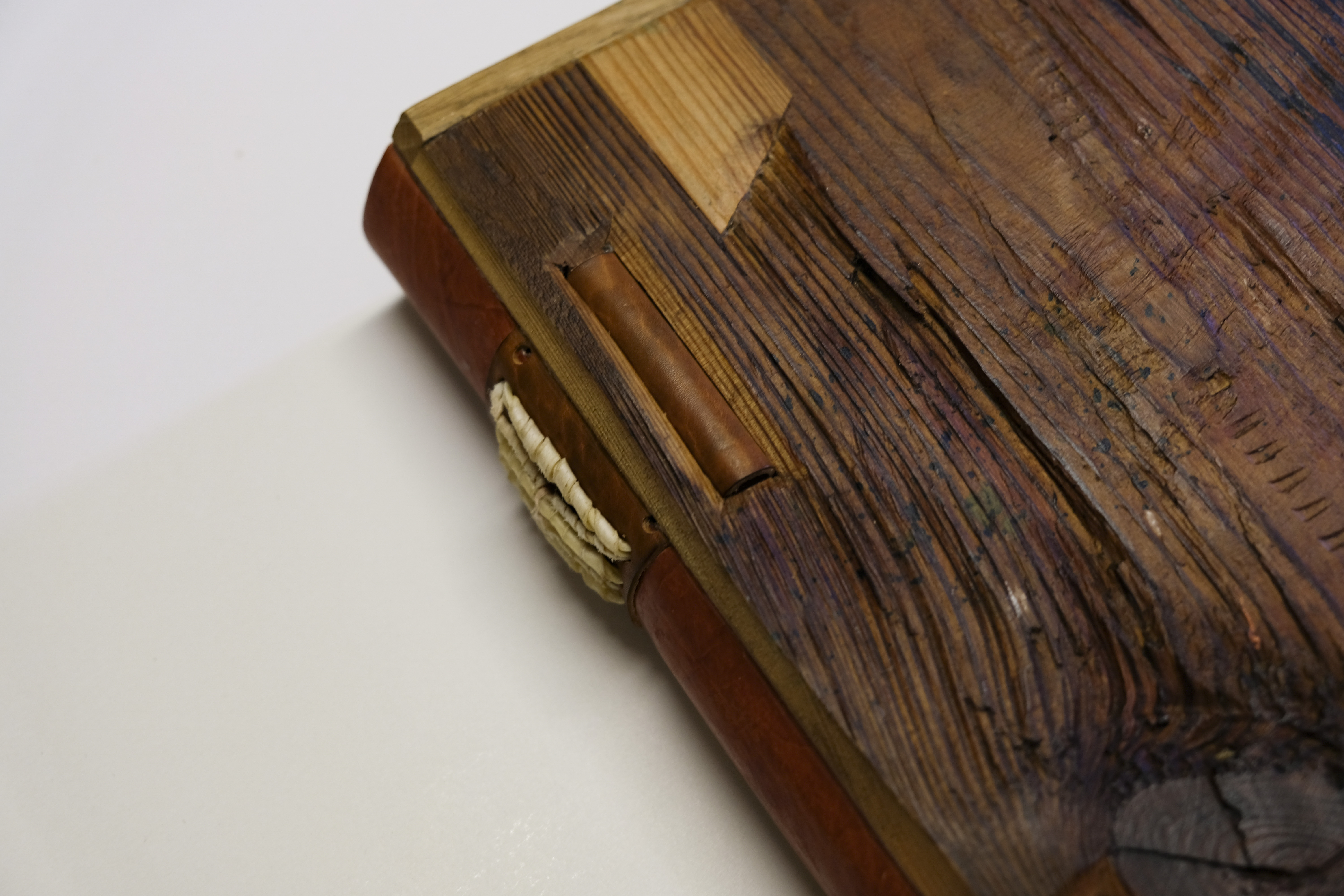 Poetics bound in wood boards